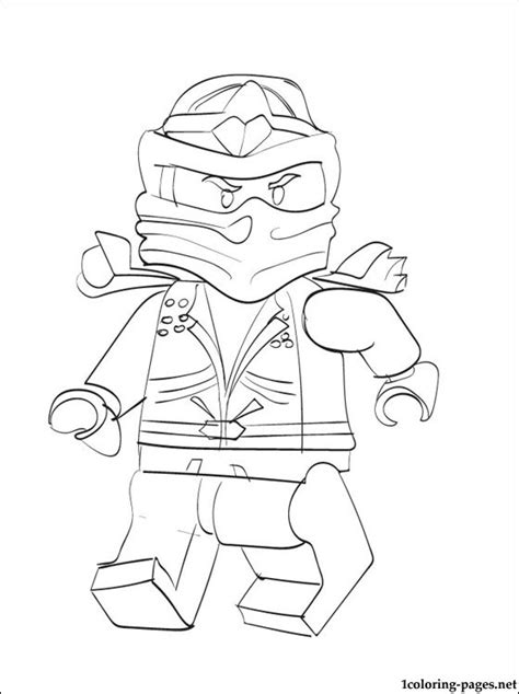 free coloring pages of lloyd green ninja lego
