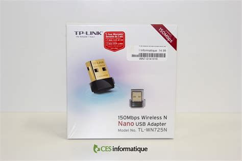 Wifi Adapter Tp Link wireless n usb adapter tp link tl wn725n ces informatique