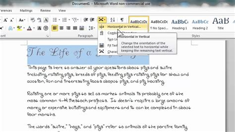 How To Rotate A Table In Word by How To Rotate Your Text Vertically In Microsoft Word 2010