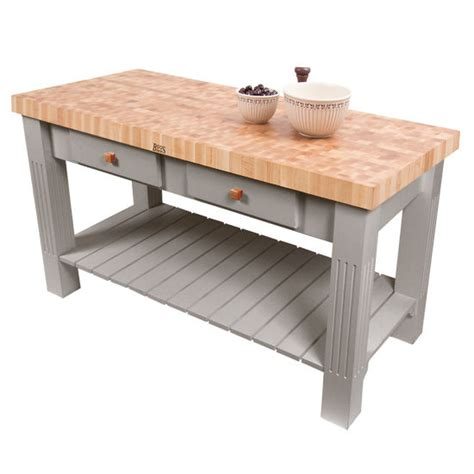 grazzi kitchen island with butcher block end grain maple
