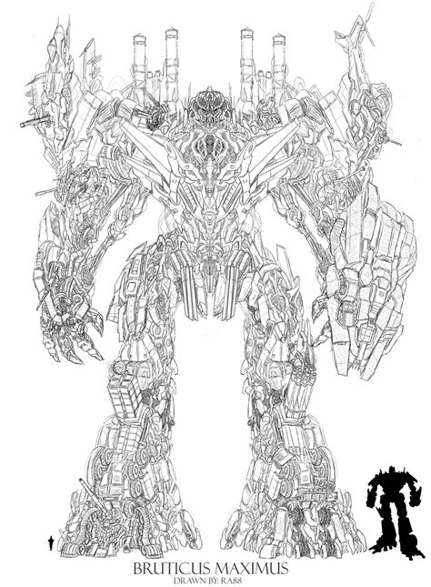 Transformers 5 Coloring Pages by Bruticus Maximus Tfw2005