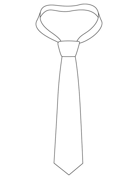 Necktie With Knot Coloring Pages Download Free Necktie Tie Coloring Page