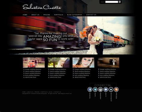 website templates for visual artists photographer web design archives visual lure
