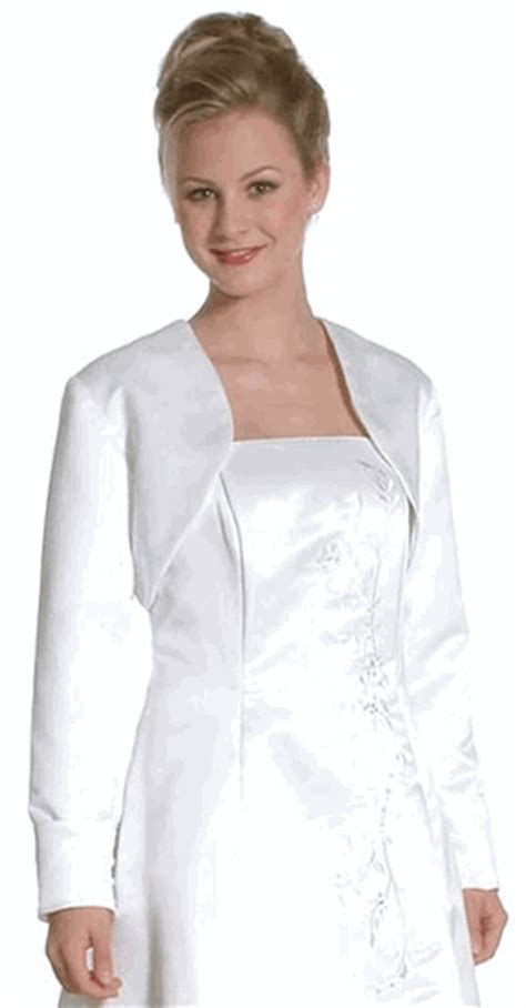 white bolero jacket wedding white satin formal sleeve bolero jacket