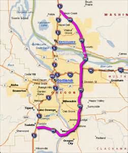 interactive i 205 portland or map