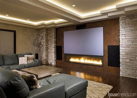 lighting design for home theater fireplaces photos