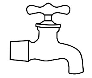 tap coloring pages picture of tap clipart best