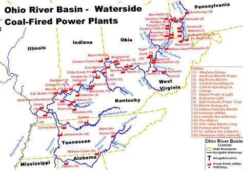 map of illinois power plants line coal line ohio river mainstem system map