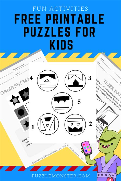 Printable Logic Puzzles For