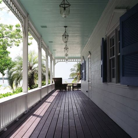 front porch ceiling light blue painted ceilings feel cooler and airy it s an trick