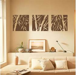 bamboo home decor 3 large pcs bamboo removable wall art stickers vinyl decal home decor canvas ebay