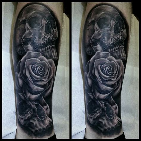 skull cover up tattoo gray s style rant ink studio nottingham