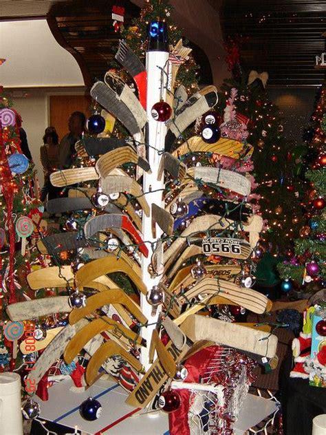 hockey stick christmas tree hockey pinterest