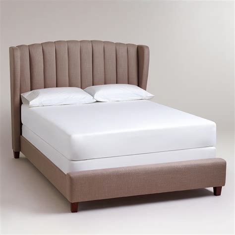 wingback bed marlow wingback queen bed world market