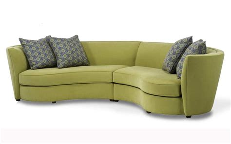 Curved Loveseat Sofa Custom Curved Shape Sofa Avelle 232 Fabric Sectional Sofas
