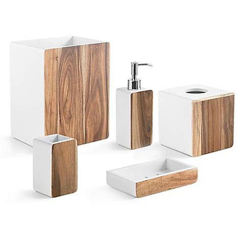Kassatex Habitat Bath Ensemble In Wood White Bed Bath Habitat Bathroom Accessories