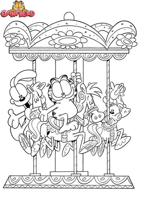 garfield coloring pages games garfield odie coloring pages colouring adult detailed