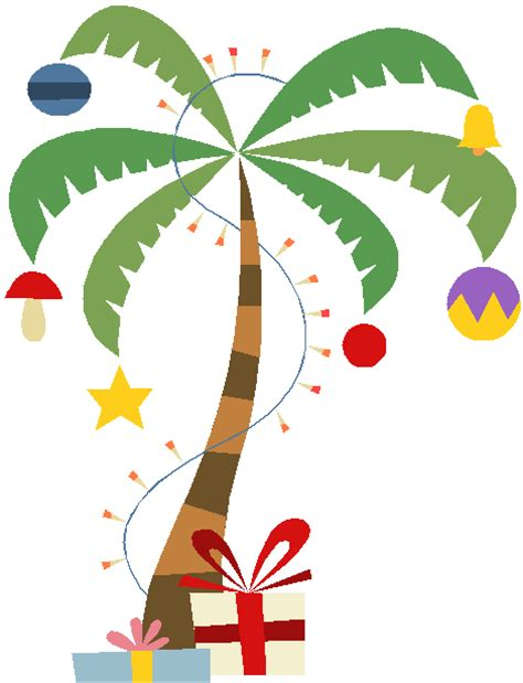 xmas palm tree clipart