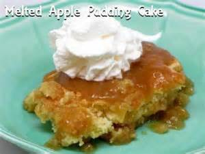 apfel pudding kuchen melted apple pudding desserts