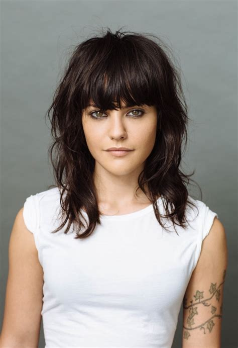 short brunette hairstyles bangs bangs brunette haircut hairstyle minimal