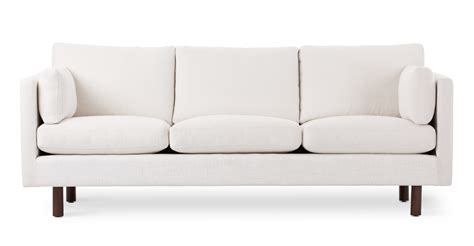 white couch chair nova creamy white sofa sofas article modern mid