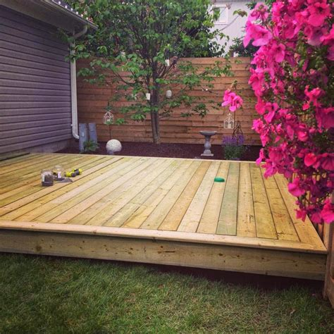 backyard platform deck white wood our new outdoor room and platform deck