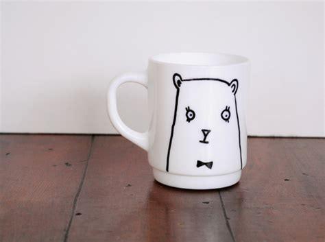 design sponge mug diy gift series bear mug design sponge