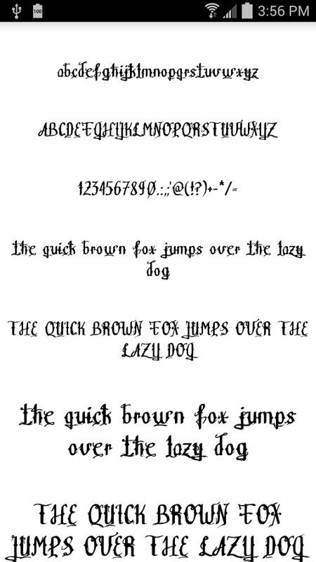 tattoo fonts app download fonts for flipfont apk free android app