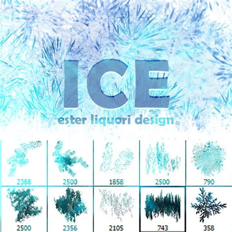 ice pattern psd premium brush set ice psdfan