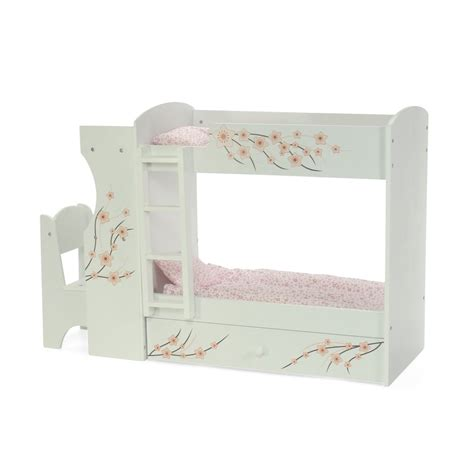 18 in doll bunk bed fits american doll bunk bed desk combo 18 inch