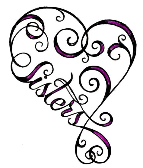 heart sister tattoo clipart best clipart best