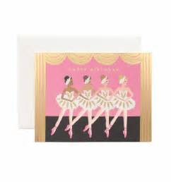 birthday ballet greeting card by rifle paper co made in usa