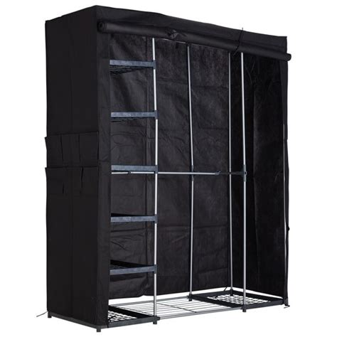 Black Wardrobe Argos - buy home metal and polycotton wardrobe black at