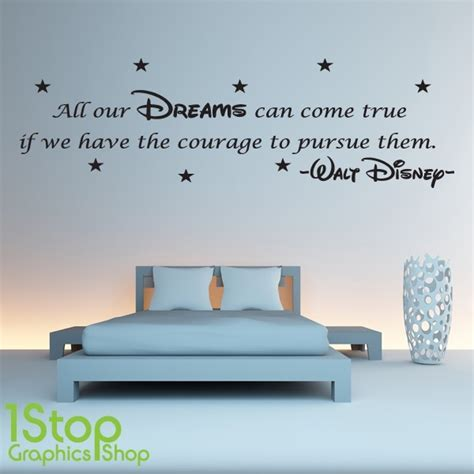 disney quote wall stickers disney wall sticker quote boys wall