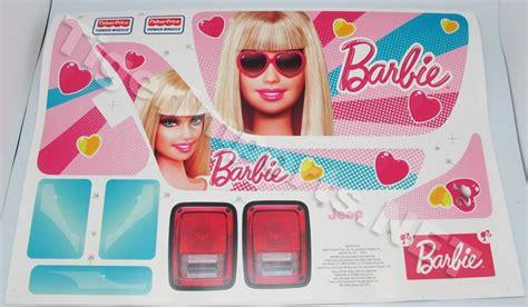 barbie jammin power wheels barbie jammin jeep label sheet w4473 0310a