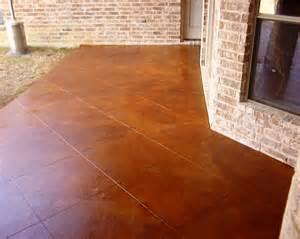 How To Stain A Patio by North Dallas Real Estate Concrete Porch Improvement