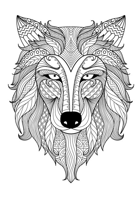 coloring pages for adults animal incredible adult coloring page of a wolf from the gallery