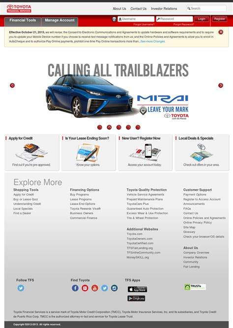 toyota financial website toyota financial services company profile owler