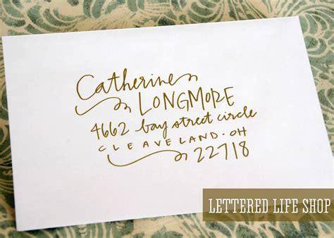 Wedding Font Tutorial by Wedding Calligraphy Envelope Addressing Gold Modern