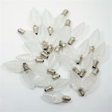 c7 led christmas lights cool white cool white 3 led c7 faceted christmas light bulbs e12