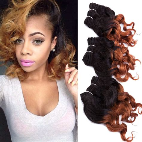 8 inch sew in hair styles 3 bundles 8inch ombre hair weaves brazilian body wave