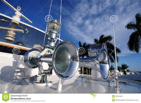 boat horn and light boat horn and light stock photos image 29014043