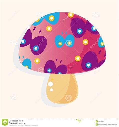 cartoon themes vector mushroom cartoon theme elements vector eps