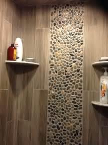 Glazed bali ocean pebble tile shower wall accent pebble tile shop