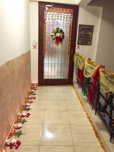 diwali entrance entrance decoration during 28 images