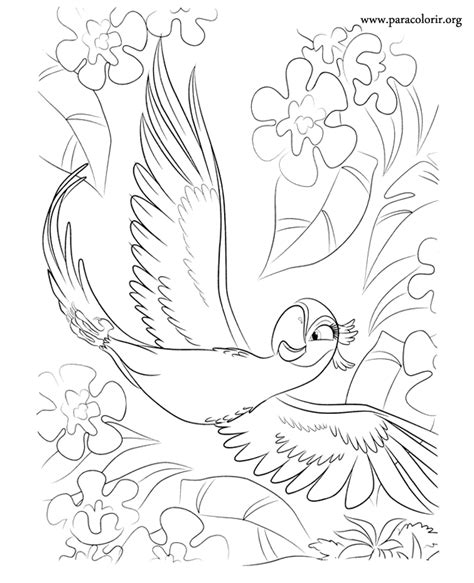 the jewel from rio movie coloring pages coloring pages
