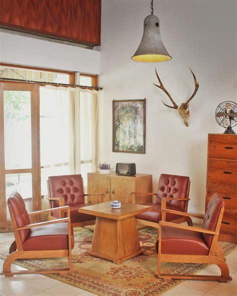 desain ruang tamu minimalis bergaya klasik vintage