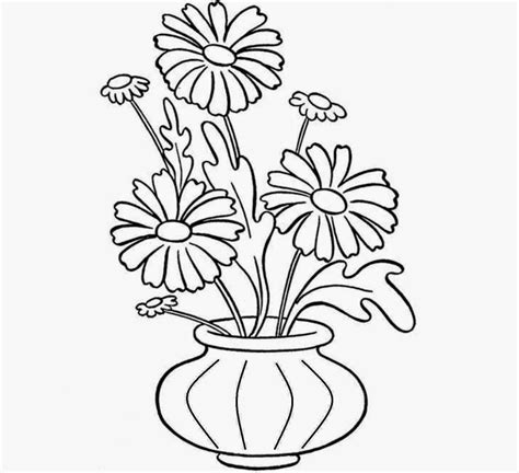 Drawing Picture Flower Vase by Flowers Vase Coloring Drawing Free Wallpaper Anggela Coloring Book For Free