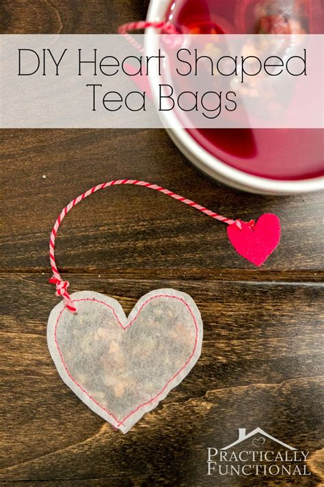 what to get a for valentines diy shaped tea bags for s day