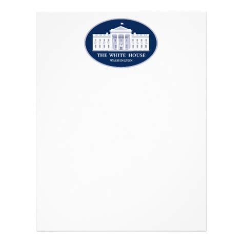 Official White House Letterhead The White House Letterhead Zazzle